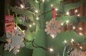 TUTORIAL: DIY árbol de Navidad de cartón Six-Sided