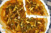 Arroz Harina Pizza de corteza (Orotti) con Masala Aloo(Potato)