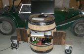 Convertir un barril de vino en un armario