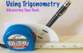 Medir la altura usando la trigonometría (medición de cinta Hack)