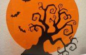 Espeluznante decoración árbol y palo
