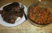 Lento la olla de carne asada y verduras