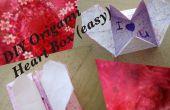 DIY Origami corazón caja secreto mensaje (fácil