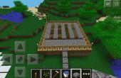 Cómo hacer un jardín de trigo Simple en Minecraft Pe