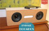 Transformación de DIY revistero Kvissle sujetalibros Audio Boom caja