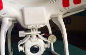 Drone (quad) buscar luz de noche vuelo