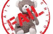 Calcetín fallado oso