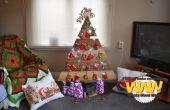 Árbol de Navidad rústico y calendario de Adviento