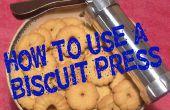 Cómo utilizar una prensa de galletas