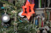 Lindo sentir la decoración del árbol de Navidad!