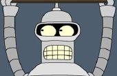 Cómo hacer una máscara de Bender (Futurama)...