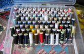 Organizador caja de hilos para bobinas flacos, Sulky, Gutermann, Mettler Metrosene (capacidad: 175 bobinas)