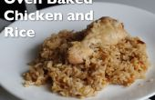 Pollo y arroz al horno