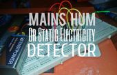 Red Hum Detector / Detector de electricidad estática