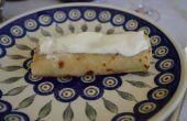 Nalesniki - tradicional Polaco Crepes con relleno de queso
