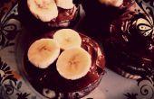 Vegan Banana Muffins de cacao