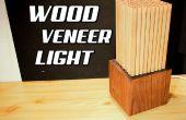Luz de chapa de madera bricolaje