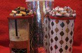 Fresco reciclado cartucho de regalo, envoltura y fabuloso arco