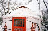 Una chica de Beijing construir una yurta en Beijing como su inicio