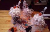 Helados de caramelo de Halloween y decoraciones