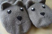 Cosa caliente y cómodas zapatillas de osito
