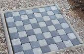 Tablero de ajedrez de jardín