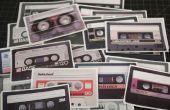 Cassette cinta pegatinas