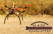 H - 430 QUADCOPTER TORPEDO plegable fácil para ver la orientación a distancia