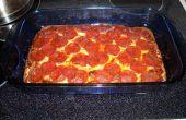 ¿Baja en carbohidratos, alta en proteínas pizza con salsa casera