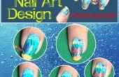 Diseño de arte de uñas de acuario