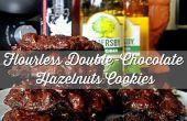 Alimentos horneados sin gluten 25mins: galletas de avellanas doble Chocolate sin harina con sal de mar!