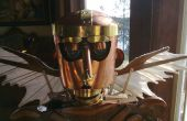 Steampunk style demi-droid EZ-Robot controlled