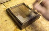 Alimentario de madera acabado con goma laca (+ abeja aceite cera nogal)