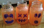 Tarro de masón de calabazas para Halloween