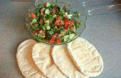 Fatoush - una ensalada picante de Oriente