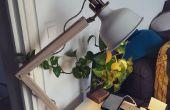 Lámpara Industrial de mesa de madera