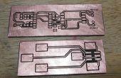 Fabricación de PCB con calor Toner transferencia papel y laminador.