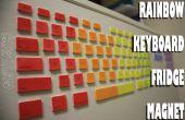 IMÁN de nevera de teclado RAINBOW