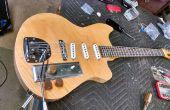 Hacer una guitarra de una núcleo hueco puerta