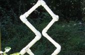 Construir un 3D a 2D proyección escultura de pipa del PVC
