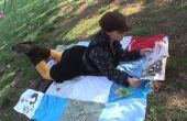 Como hacer un morral de manta Picnic de camisetas