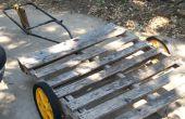 Carro o remolque de plataforma como jardín