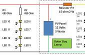 Add-on LED para la lámpara del día Solar