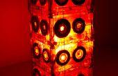 Lámpara de mesa de cinta de cassette