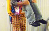 """""""Entrega de payaso de la clase"""" ilusión de Halloween traje"""