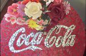 Hacer una mesa de mosaico de Coca Cola