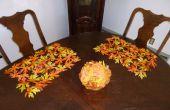 Decorar con hojas de otoño