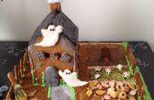 Casa de jengibre de Halloween (para el pedazo de centro)
