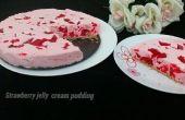 Pudín de fresa gelatina de crema