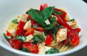 Receta de Pasta fría de tomate, albahaca y Mozzarella
